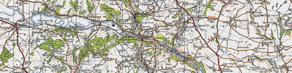Old map of Ironbridge in 1947