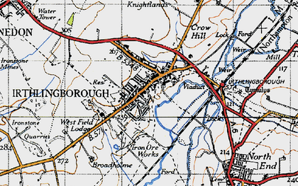 Old map of Irthlingborough in 1946
