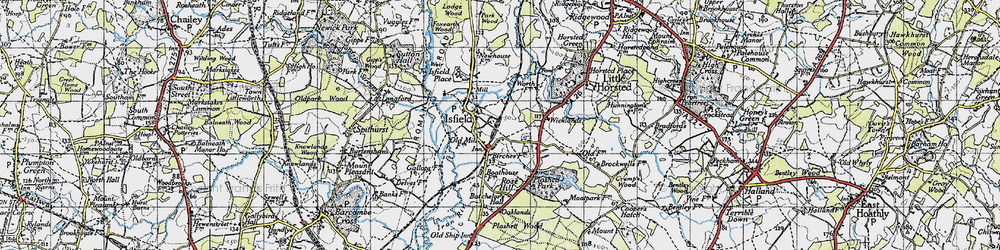 Old map of Lavender Line in 1940