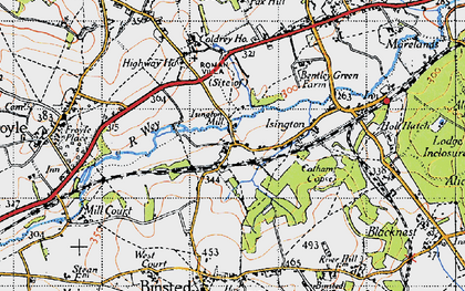 Old map of Isington in 1940
