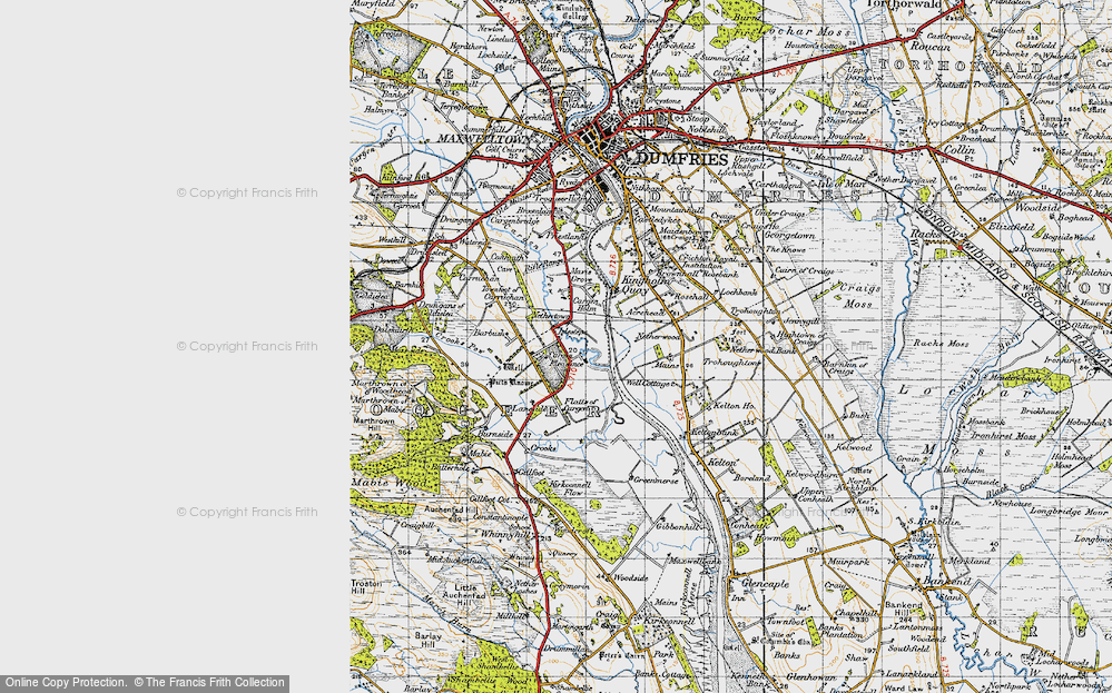 Old Map of Historic Map covering Laneside in 1947