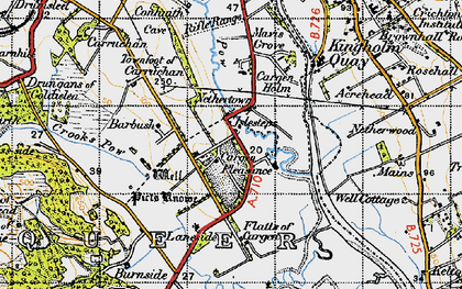 Old map of Laneside in 1947