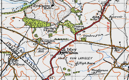 Old map of Ambro Hill in 1946