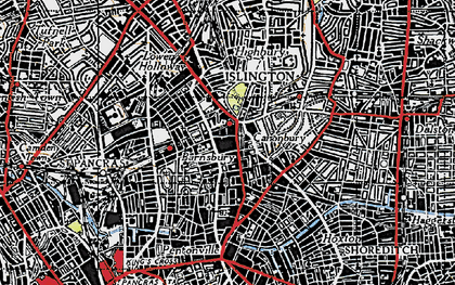 Old map of Islington in 1946