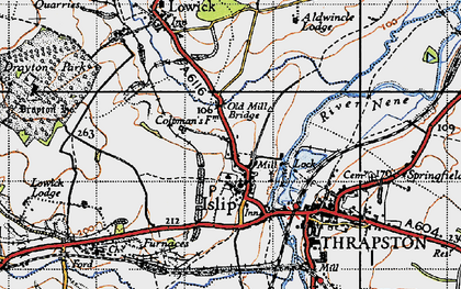 Old map of Islip in 1946