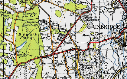 Old map of White Lo in 1945
