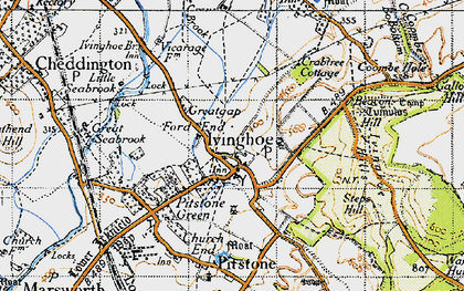 Old map of Whistle Brook in 1946