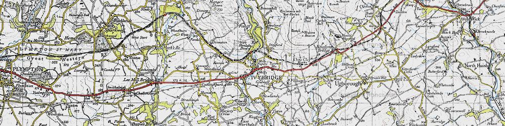 Old map of Ivybridge in 1946