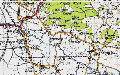 Old map of Woolmers in 1946