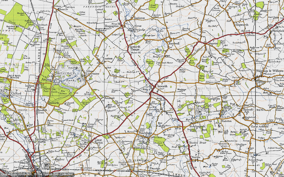 Old Map of Ixworth, 1946 in 1946
