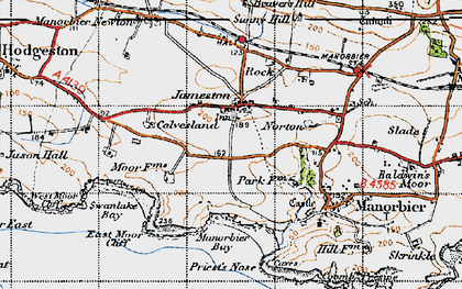 Old map of Jameston in 1946
