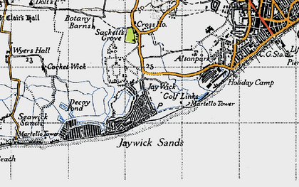 Old map of Jaywick in 1946