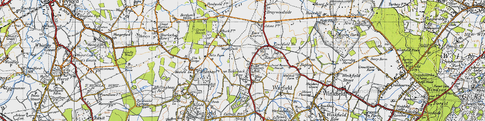 Old map of Westleymill in 1940