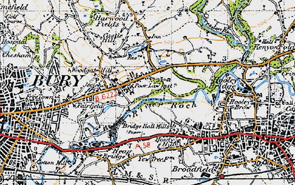 Old map of Jericho in 1947
