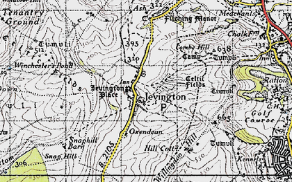 Old map of Willingdon Hill in 1940