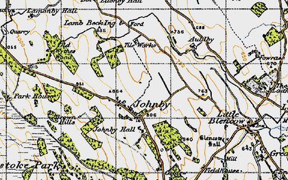 Old map of Auldby in 1947
