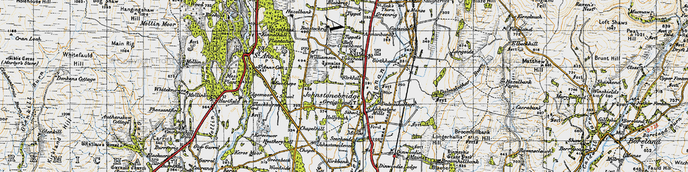 Old map of Tippet's Belt in 1947