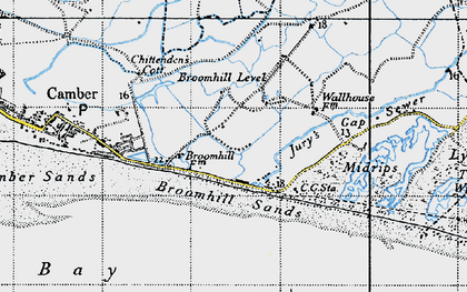 Old map of Wicks, The in 1940