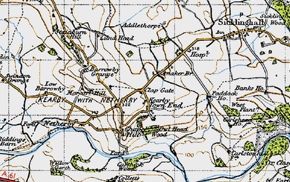 Old map of Addlethorpe Grange in 1947