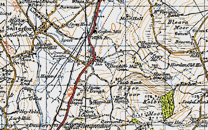 Old map of Kelbrook in 1947