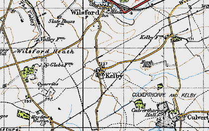 Old map of Wilsford Heath in 1946