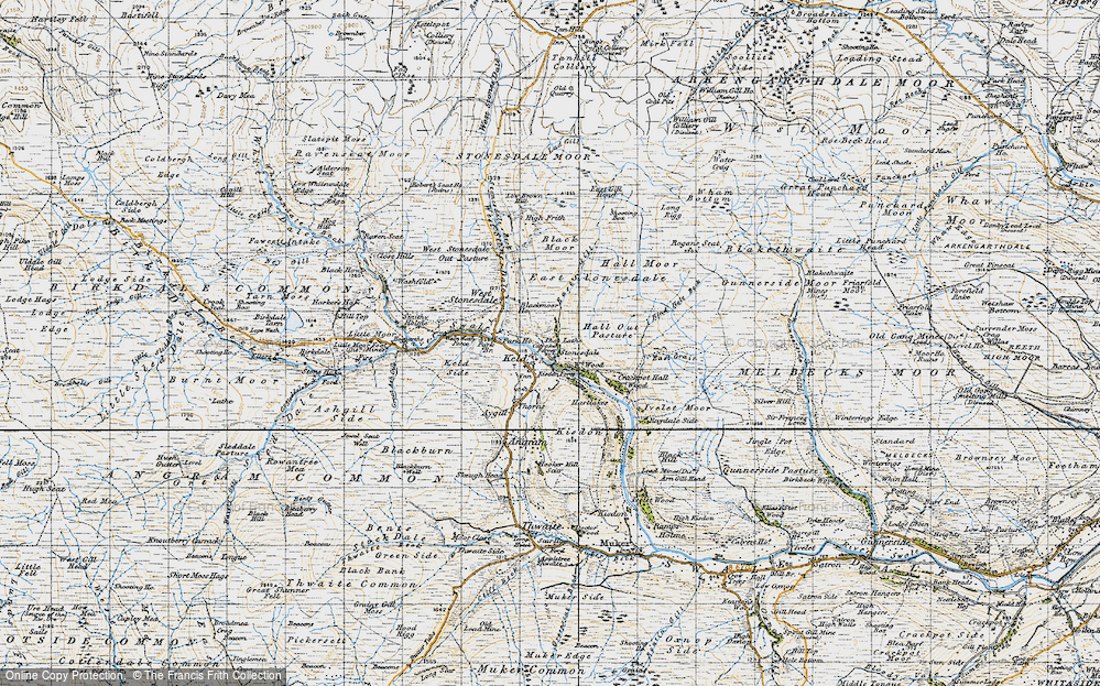 Old Map of Keld, 1947 in 1947