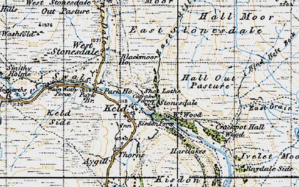 Old map of Keld in 1947