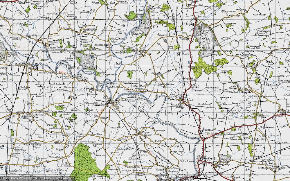 Old Map of Kelfield, 1947 in 1947