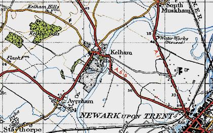 Old map of Kelham in 1947