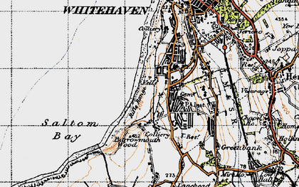 Old map of Kells in 1947