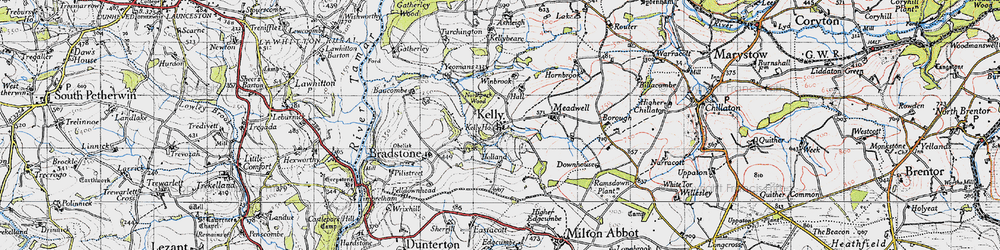Old map of Winbrook in 1946