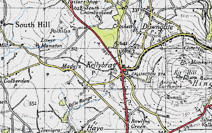 Old map of Kelly Bray in 1946
