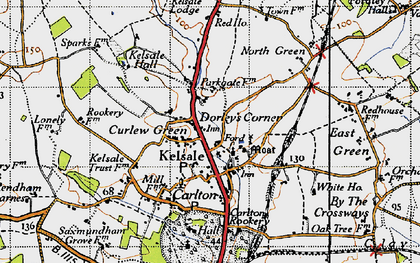 Old map of Kelsale in 1946