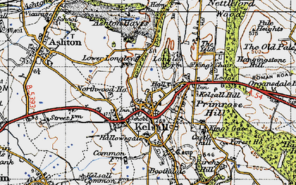 Old map of Kelsall in 1947