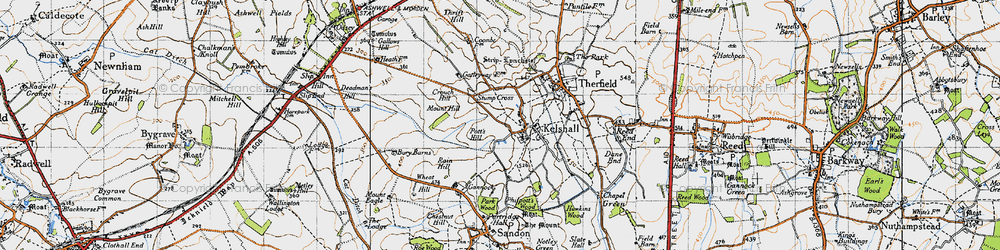 Old map of Woodcotes in 1946
