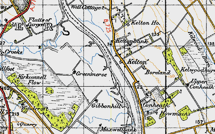 Old map of Whinnyhill in 1947