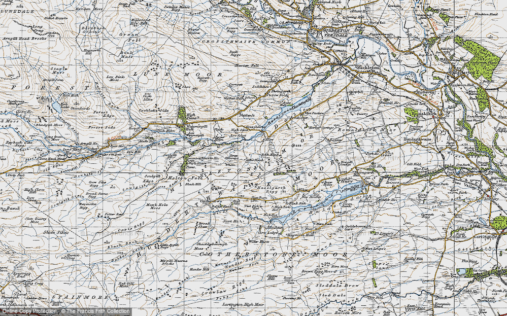 Old Map of Historic Map covering Balder Head in 1947