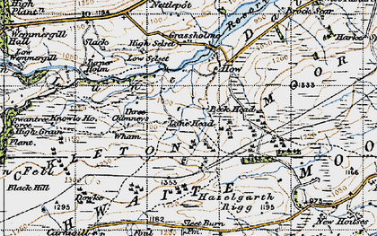 Old map of Balderhead Reservoir in 1947