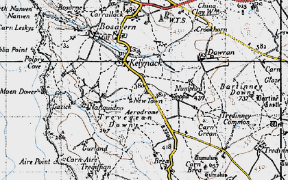 Old map of Kelynack in 1946