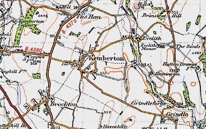 Old map of Kemberton in 1946