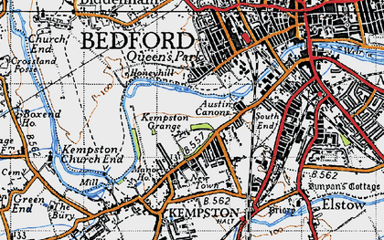 Old map of Kempston in 1946