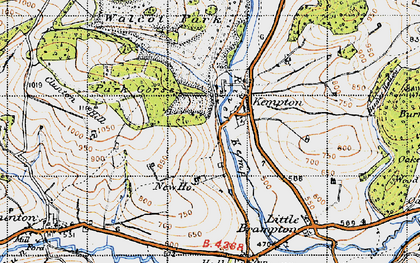 Old map of Kempton in 1947