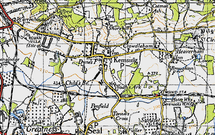 Old map of Kemsing in 1946
