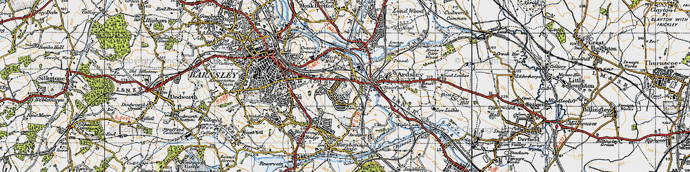 Old map of Kendray in 1947