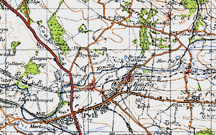 Old map of Kenfig Hill in 1947