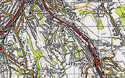 Old map of Kenley in 1946