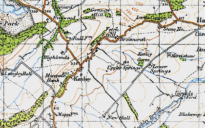 Old map of Kenley in 1947