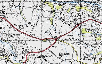 Old map of Kennards House in 1946