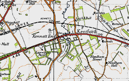 Old map of Lanwades Park in 1946