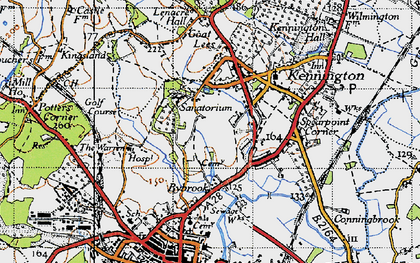 Old map of Kennington in 1940